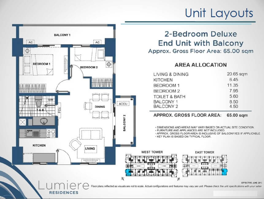 Lumiere 2 Bedroom deluxe