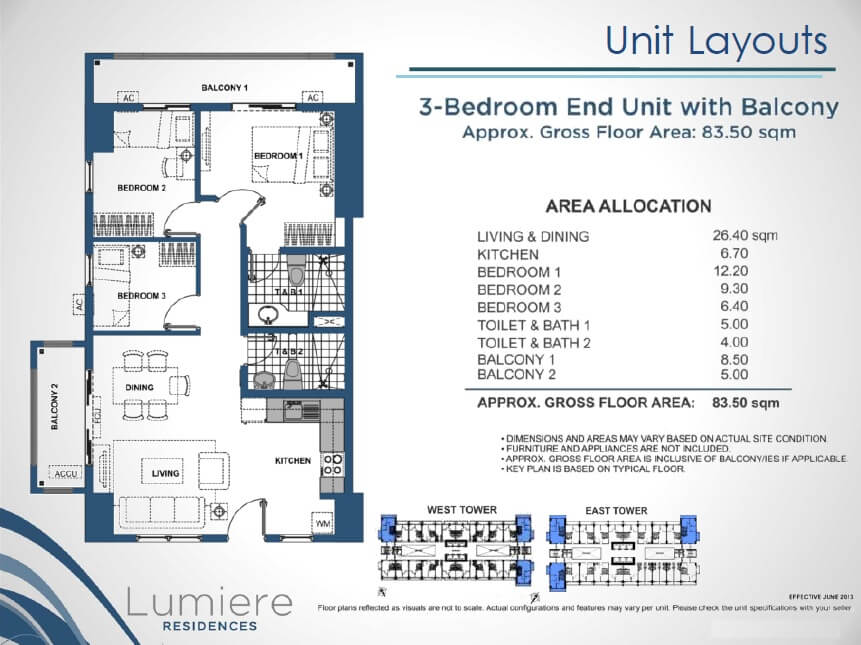 Lumiere DMCI 3 Bedroom
