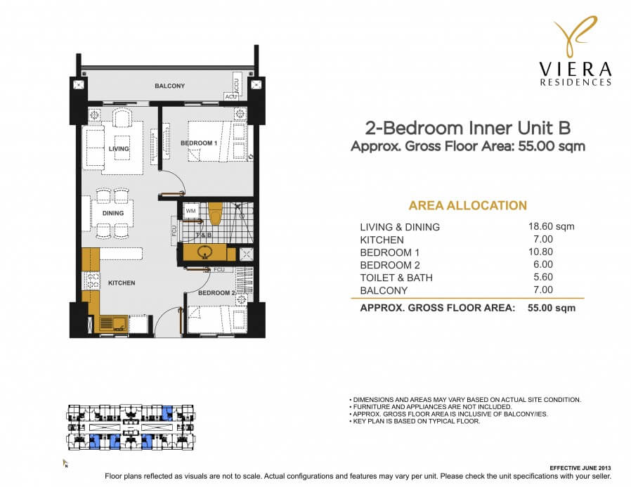 VIERA RESIDENCES 2 bedroom unit B