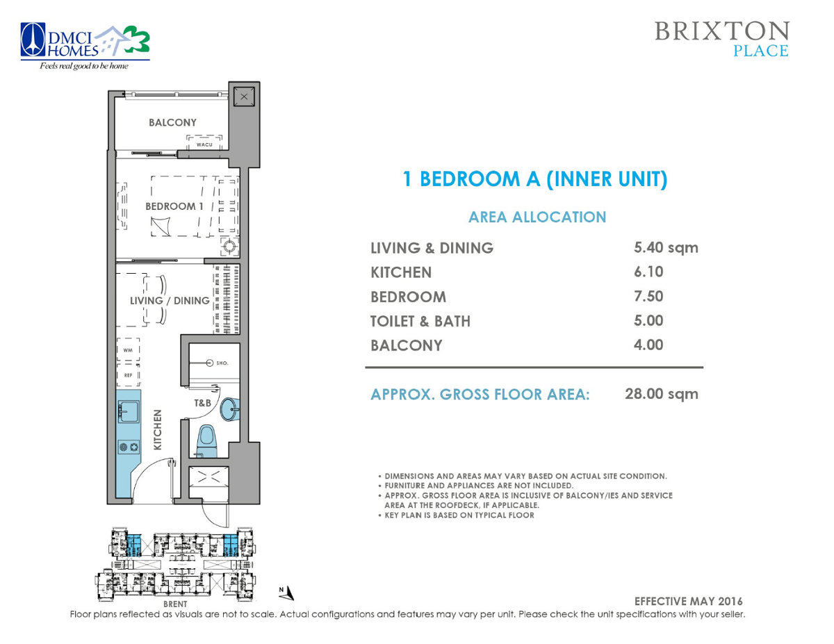 Brixton Place 1 Bedroom 28 sq meters