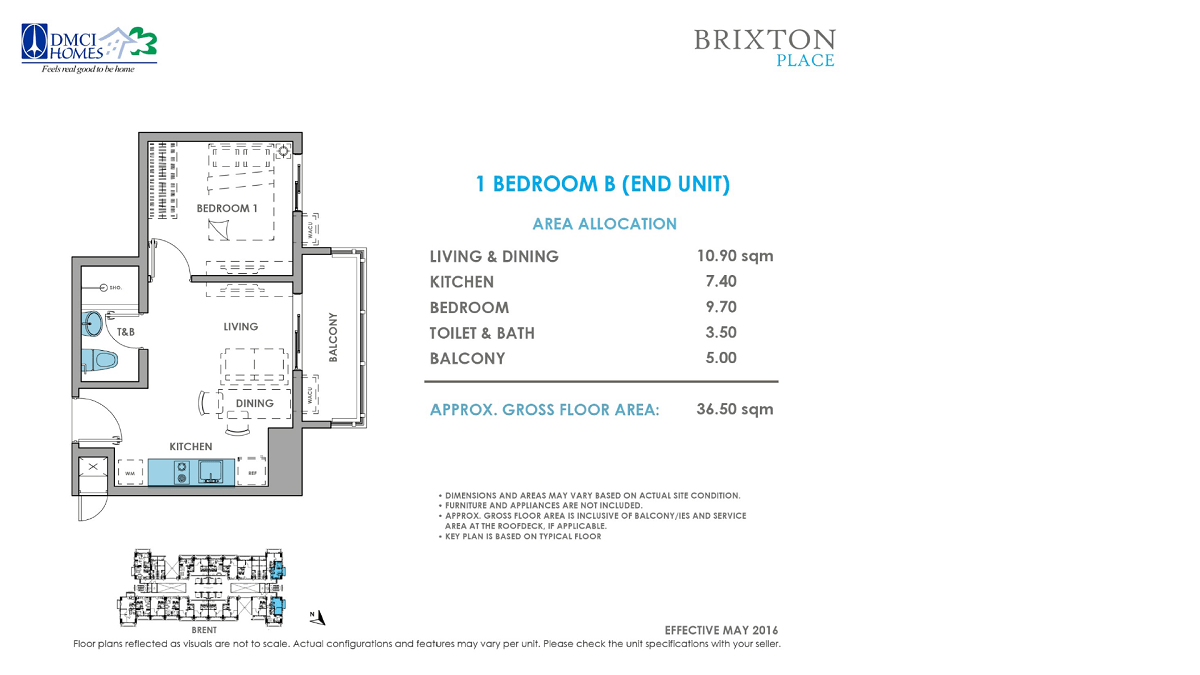 Brixton Place 1 Bedroom 36.5 sq meters