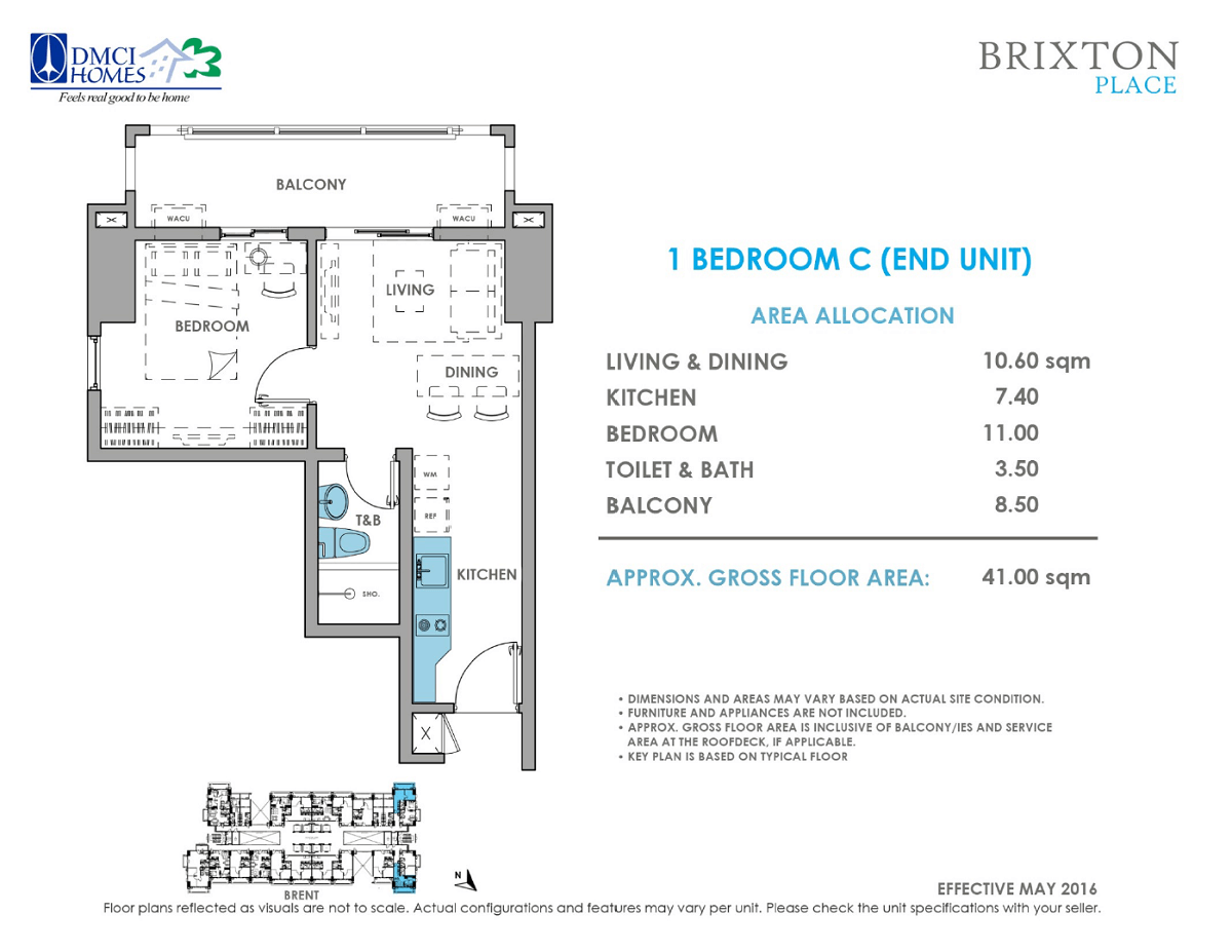 Brixton Place 1 Bedroom 41 sq meters