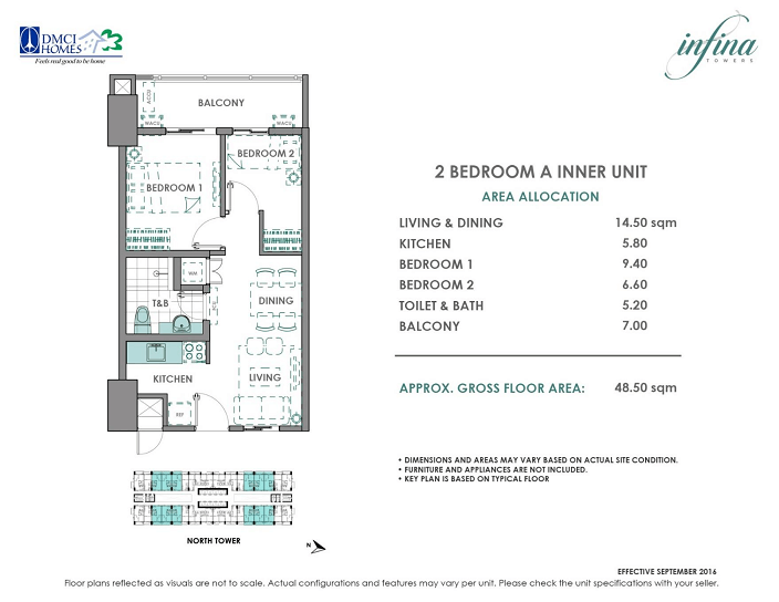 2 Bedroom A 48.5sqm Infina Towers
