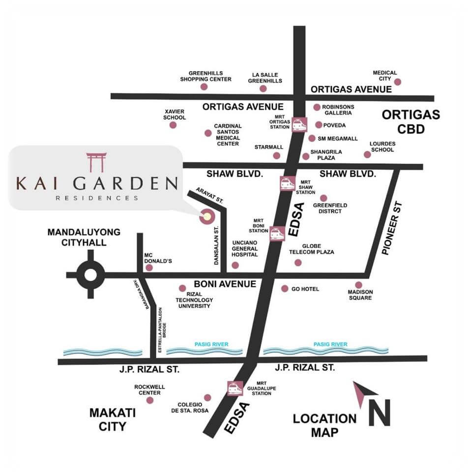 Location Map of Kai Garden Residences