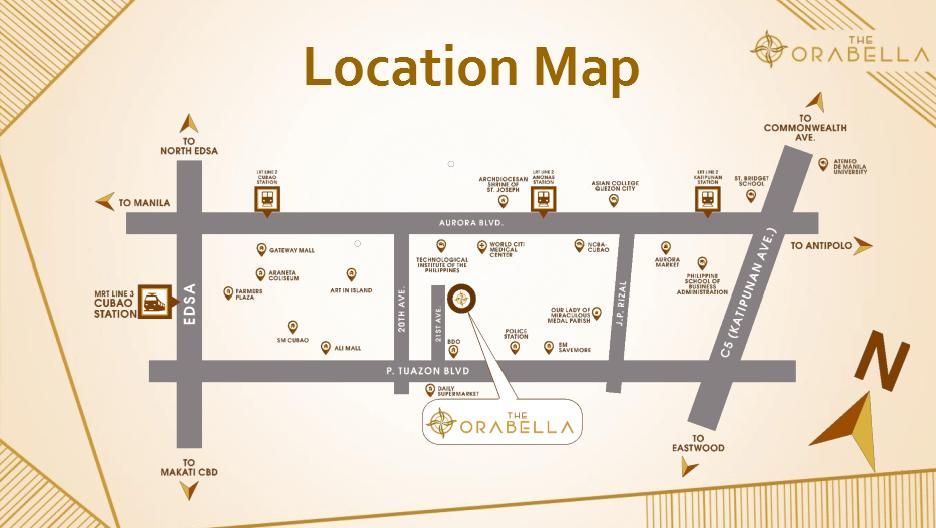 Orabella Location Map