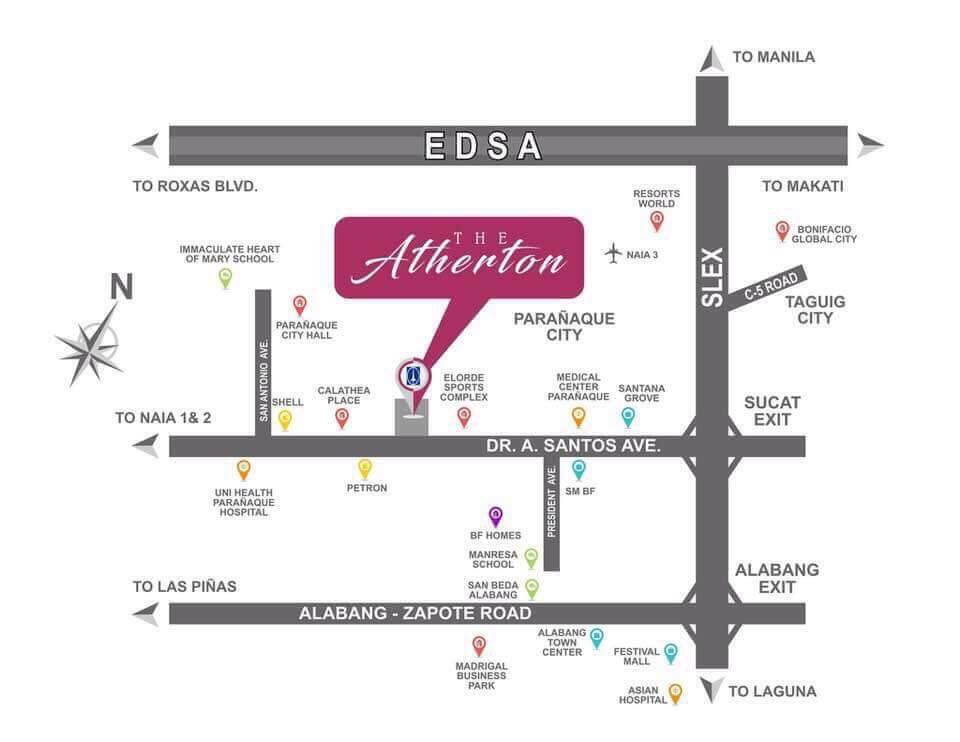 Atherton Location Map