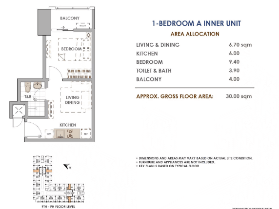 Aston Unit Layout 1 Bedroom A