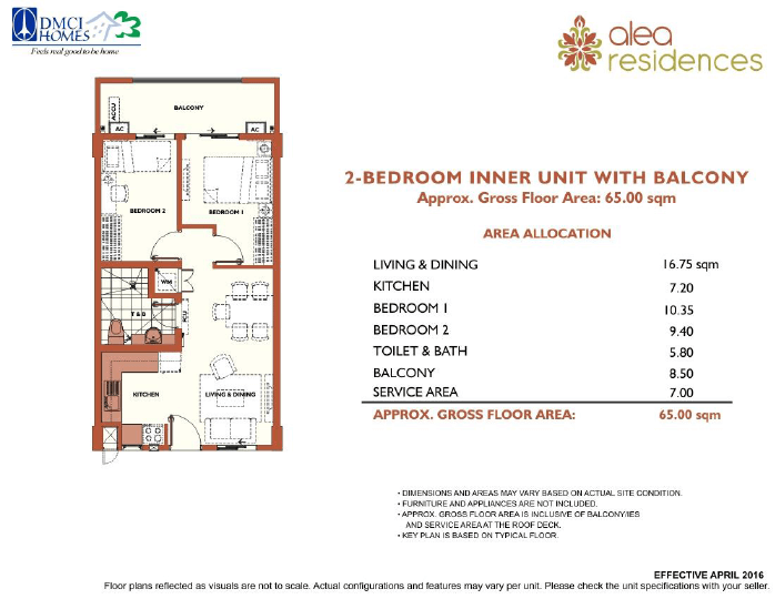 2 Bedroom Alea Residences