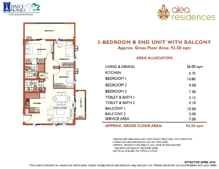 3 Bedroom Alea Residences